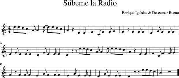 Súbeme la Radio Enrique Iglesias Flauta Part 1